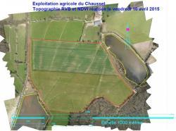 Le drone pour realisation d une topographie agricole de type rvb