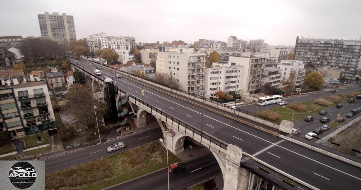 Inspection a rienne par drone de ponts en ile de france for Piscine levallois