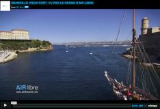 Le vieux port de Marseille photographie par un drone