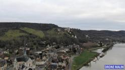 Les Andelys et château Gaillard Eure Normandie photographie drone 20210111 185920 2