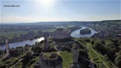 Les andelys eure normandie prise de vue aerienne par drone chateau gaillard 5