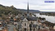 Église Saint-Sauveur du Petit-Andely photographie aérienne par pilote de drone Eure Normandie