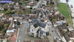 Les Petits Andelys photographie aérienne par pilote de drone Eure Normandie