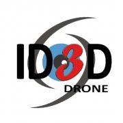Logo id3d drone, pilote professionnel