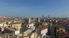 Lyon en vue aérienne par drone