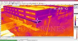 Lyon, thermographie aérienne par image infrarouge