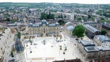 Mairie d'Evreux photographiée par pilote de drone