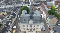 Mairie de Vernon en vue aérienne par drone