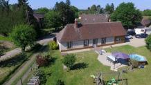 Maison en photo aérienne pour annonce immobilière