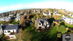 Maison en vue aérienne photographiée par drone