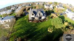 Maison photographiée par un drone