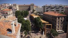 Marseille en vue aérienne par drone