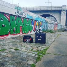 Matériel et drone pour prises de vues aériennes des ponts en région parisienne