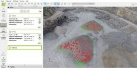 Modélisation 3D, mesure de cubature en carriere par drone