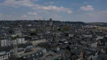 Metropole de rouen normandie en vue aerienne par drone