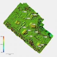 Modele numerique de surface realise par drone