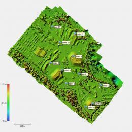 Modèle numérique de surface réalise par drone