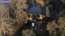 Moulin d ande en vue aerienne par drone