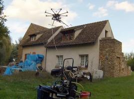 Nettoyage par pulvérisation avec un drone