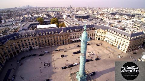 Paris en vue aérienne photo prise de la place Vendôme