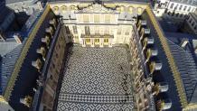 Paris vue aérienne cour intérieur château