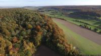 Paysage en vue aerienne de drone dans les hauts de france