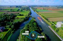 Paysage en vue aerienne par drone les hauts de france