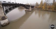 Photo aérienne du pont de Levallois-Perret au dessus de la seine