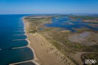 Photo aerienne aigues mortes en camargue provence alpes cote d azur