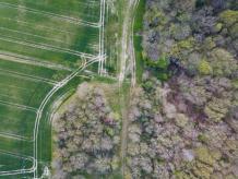 Photo aérienne artistique par drone dans l Indre