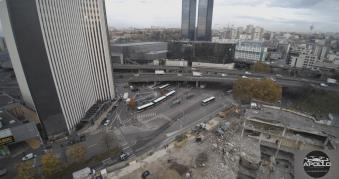 Photo aérienne chantier Bagnolet Seine Saint Denis