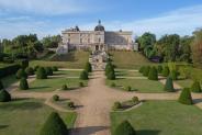 Photo aérienne château de Vayres en Gironde proche Bordeaux