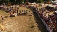 Photo aerienne course moto cross centre val de loire