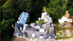 Photo aérienne de dégâts sur toiture