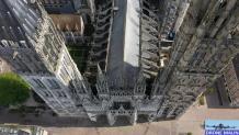 Photo aérienne de la cathédrale de Rouen