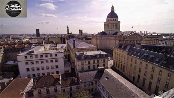 Photo aerienne de la sorbonne a paris