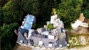 Photo aérienne de la toiture du château pour architecte des bâtiments de France
