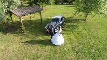 Photo aérienne de mariage en Normandie