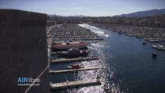 Photo aérienne de Marseille le vieux port