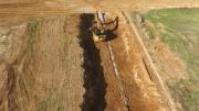 Photo aérienne de suivi chantier par drone a Douains 27