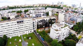 Photo aerienne de ville prise par drone