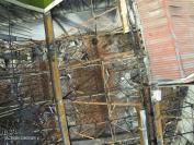 Photo aérienne detaillee par drone d un incendie