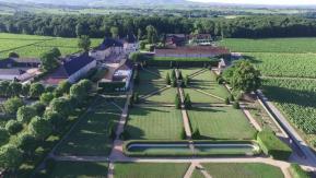 Photo aérienne domaine viticole par vecteur drone