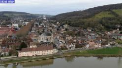 Photo aérienne drone les Andelys des berges de la Seine en Eure Normandie 20210111 185726