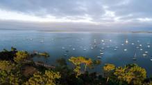 Photo aérienne du bassin Arcachon photographie par drone