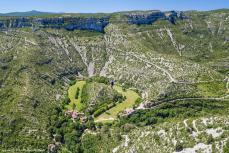Photo aérienne du cirque de Navacelles