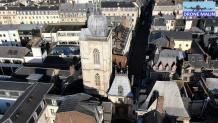 Photo aérienne du gros horloge Rouen par drone