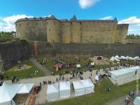 Photo aerienne evenement culturel les ardennes grand est