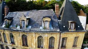 Photo aérienne façade monument historique