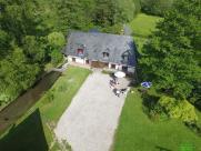 Photo aérienne maison par drone